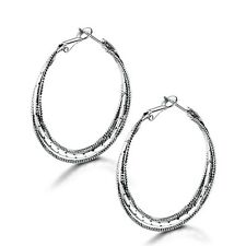 Individual Jewelry in vogue! 18k white gold filled hot fashion hoop earring