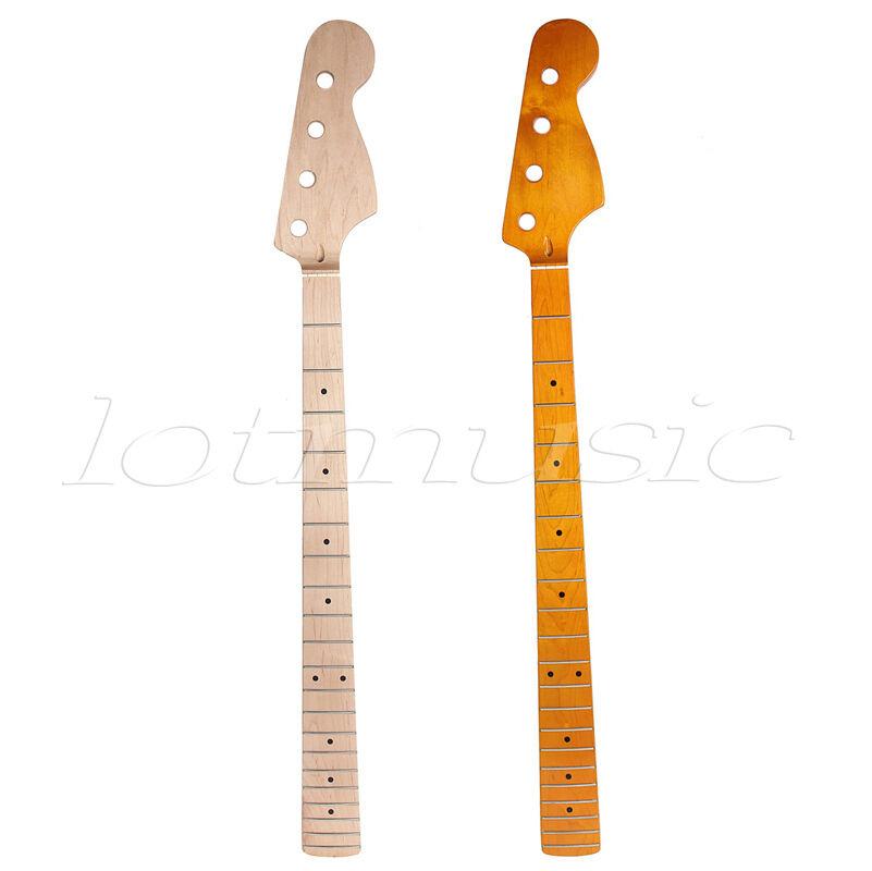 2Pcs 4 Cuerdas Cuerdas Cuerdas Bajo Guitarra Cuello diferentes para las piezas de arce de 21 trastes Jazz Bass 714b7d