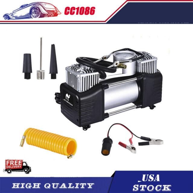 12V Portable 150PSI Car Tyre Auto Tire Inflator Pump Air Compressor Heavy Duty