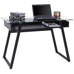 Glass top writing desk Study Image Is Loading Homeroomglasstopwritingstudycomputerlaptop Ebay Home Room Glass Top Writing Study Computer Laptop Work Desk Table