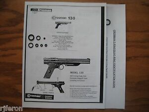 crosman crossman 130 137 pistol reseal seal repair kit owner s rh ebay com Owner's Manual Crosman 1377 Crosman 1377 Barrel