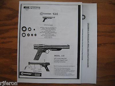 Breech Gasket Included Crosman 130,137 Pistol Seal O-ring Kit