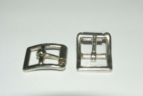 "2 NICKEL PLATED HOBBLE BUCKLES TO TAKE 5//8/"" STRAP"