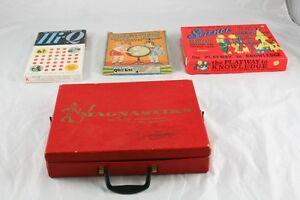 Lot of 4 Vintage Games Hi-Q Quiz Kids Magnasticks Adventures in