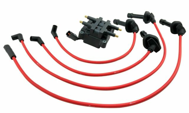 Ignition Coil Pack & Spark Plug Wires for 98-01 EJ207 Impreza WRX Forester on