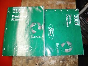 2004 Ford Escape Original Factory Service Manuals Wiring Diagrams Workshop Ebay