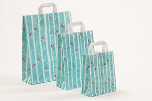 250-Papiertragetaschen-Winterbirds-Schnee-Tueten-Papiertueten-Winter-Weihnachten