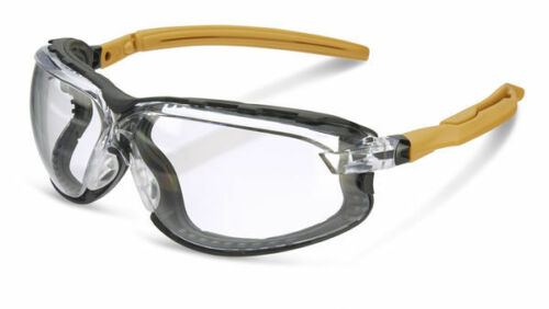 B Brand HERITAGE Safety Ergonomic Spectacles//Glasses With Gasket CLEAR Lens