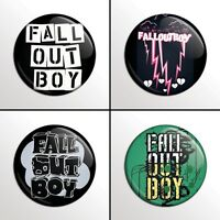 """4-Piece Fall Out Boy 1"""" Band Pinback Buttons / Pins / Badges Set"""