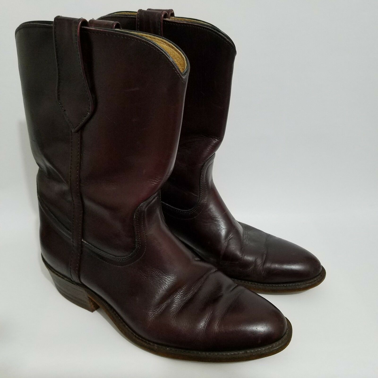 Frye Western Stiefel Mens 9.5 Medium Leather Burgundy rot Point Toe 3150 USA