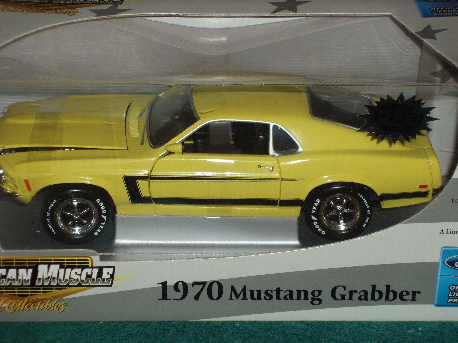 Ertl Elite 1970 FORD MUSTANG GRABBER 1 18 giallo nero