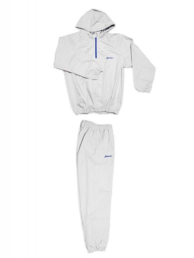 Americaya original Sauna suit fighter specifications White x bluee logo