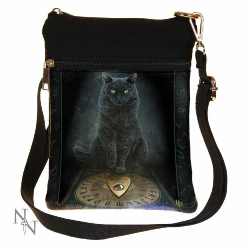 His Masters Voice Black Cat Art Girls Small Ladies Over Shoulder Bag Messenger