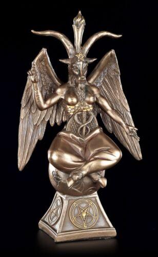Baphomet Figur auf Pentagramm Teufel Satan Tempelritter Altarfigur