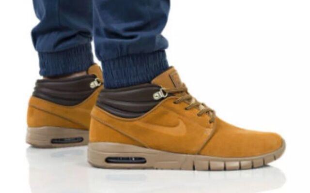 the latest e0dd7 b26bc Nike SB Stefan Janoski Max Mid Premium Bronze Men s Sz 10 Skate Shoe Av3610  779
