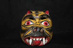 Details About 013 Mini Tigre Mexican Wooden Mask Tiger Colmillos Artesania Wall Decor Madera