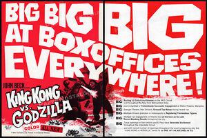 KING KONG vs GODZILLA__Original 1963 Trade AD promo / poster__TOHO / Universal
