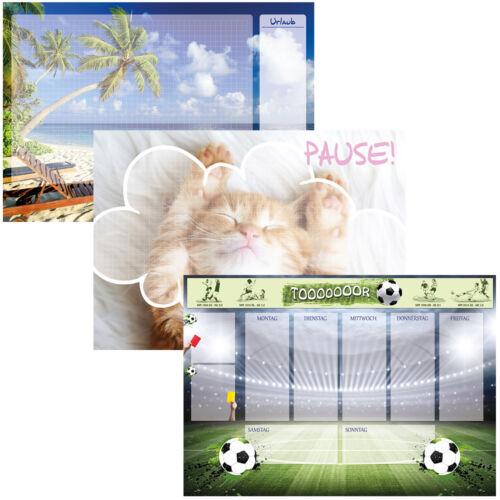 Katze Fußball Meer Urlaub Papier Schreibunterlage Block mit Schutzkante DIN-A2