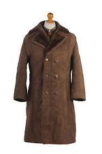 Sheepskin Coat Leather Bomber Jacket Aviator Lined Light Brown Chest 42'' C373