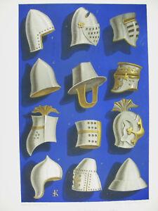 Equipment-Military-Helmet-Helm-Ixe-Xe-Xie-Lith-Xixth-1858-Hangard-and-Mauge