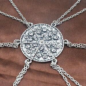 6PC-Slice-Pizza-Charm-Pendant-Chain-Necklace-Best-Friends-BFF-Friendship
