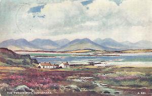 Rare Vintage Postcard - The Twelve Pins, Connemara - Galway, Ireland (1949).