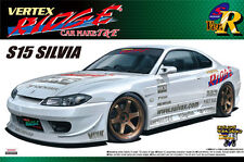 AOSHIMA 1/24 SCALE VERTEX RIDGE S15 SILVIA PLASTIC MODEL KIT * RESTOCKED* JDM