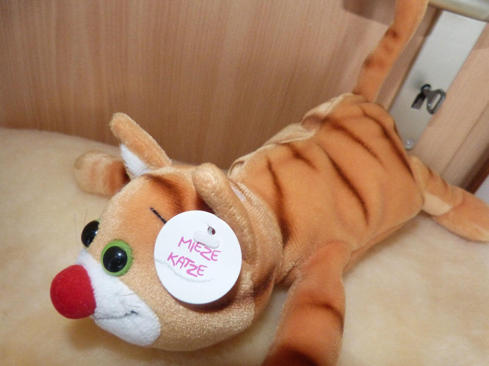 NEU Stoff 31cm Katze braun Kuschel Plüsch Stoff NEU Tier Dekoration Schaffer lustig Comic fe5b3f
