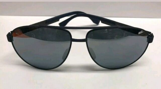 a4fc127b1c Hugo Boss 0752 F S KCS9U Navy Blue Checkered Sunglasses Made in Italy  Authentic