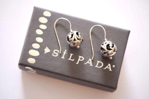 Silpada Sterling Silver Simple Delight Filigree Ball Bead Drop Earrings W0718