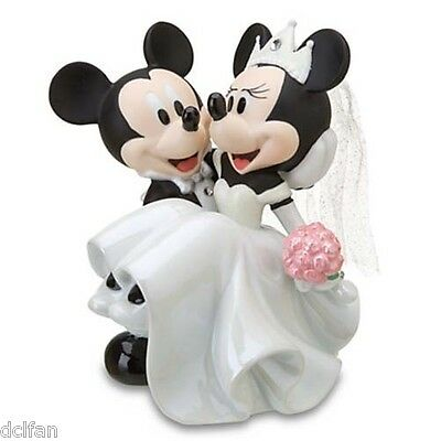 Disney Parks Wedding Mickey Minnie Mouse Cake Topper Figurine Figure NEW