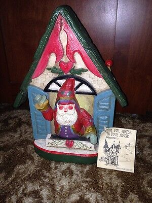 House Of Hatten BELSNICKLE Santa Greeting CHRISTMAS Card Holder 1991