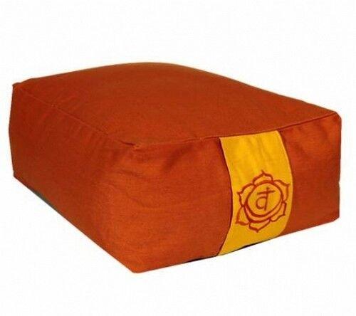 Meditationskissen rechteckig Chakra 2,rechteckig Swadhisht Yogamatte XL Set