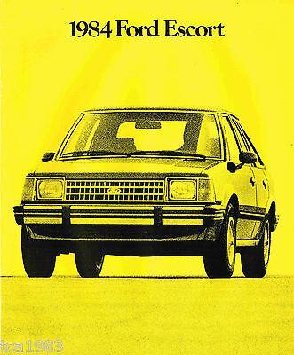 L Tr Gl Lx 1984 Ford Escort Brochure W/ Color Chart: Gt Turbo Wagon