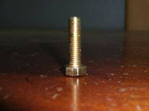 M7 x 1.0 x 25mm Steel Hex Head Metric Bolts in Gold Finish