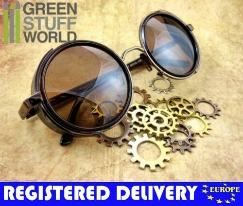 Retro SteamPunk goggles - COPPER frame - Sunglasses Vintage Retro Victorian.