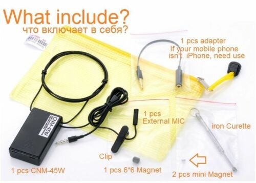 Micro spy mini Earpiece covert with Magnetic Neckloop for I phone 10 pics// lot