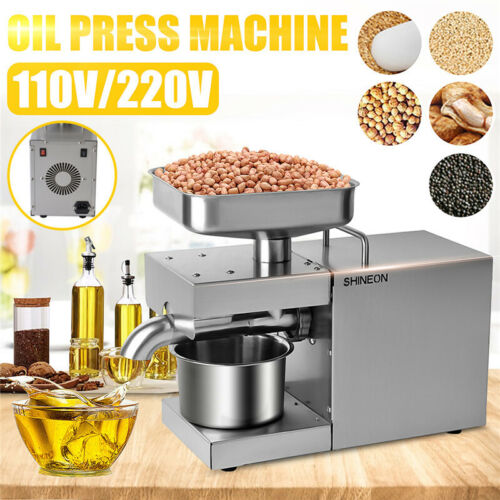 Automatic Oil Press Machine Stainless Steel ColdHot Presser Oil Expeller 110//220