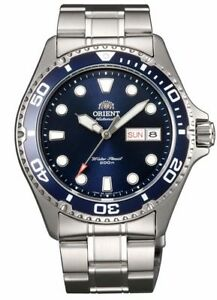"""ORIENT """"Ray 2"""" Diving Sport Automatic 200M Watch Blue Dial FAA02005D"""