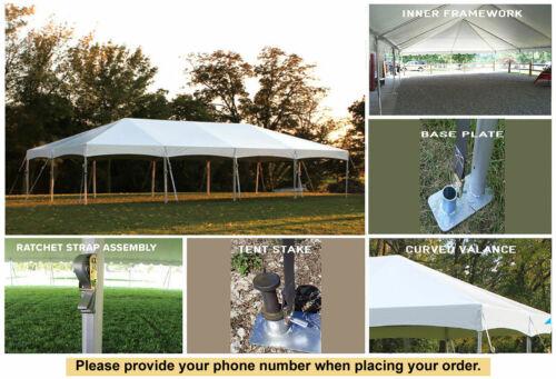 20x40 White Vinyl Master Series Frame Tent For Sale