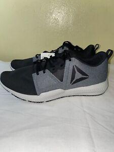 Reebok-Men-039-s-Hydrorush-TR-Athletic-Running-Shoes-Grey-Black-Size-12