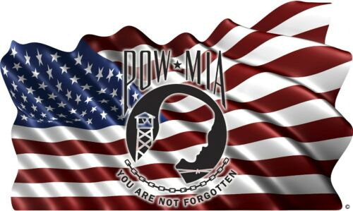 American Flag POW MIA Flag decal Camper RV motor home mural graphic style C