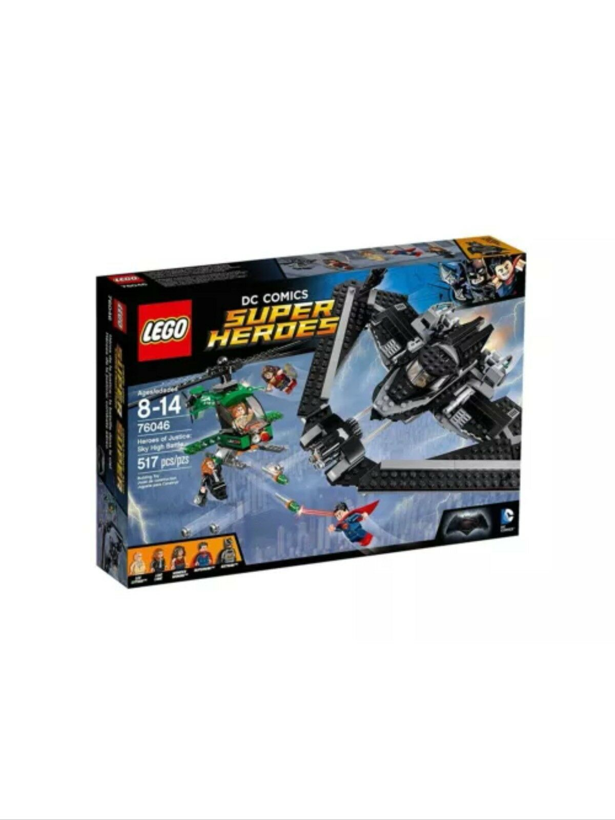 LEGO 76046 BATMAN V SUPERMAN DC SUPER HEROES OF JUSTICE, SKY HIGH battle, NEW 3
