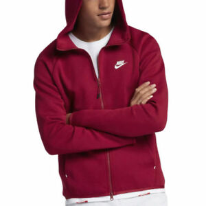 Nike Taglia 928483 618 Felpa Windrunner Fleece uomo red Crush Tech con cappuccio l Ewq8qZz