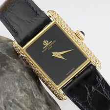 *Baume & Mercier*TANK*Ref. 38307*Handaufzug*18K/750er Gold mit 100 Diamant*DAU*