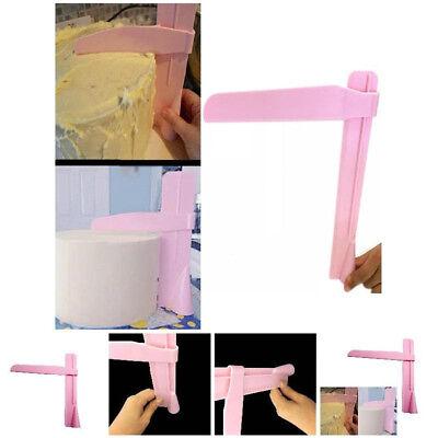 Adjustable Fondant Cake Scraper Icing Piping Cream Spatula Edges Smoother Tool