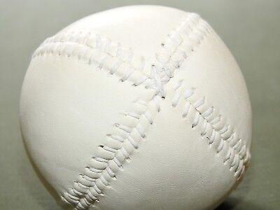 "Team Sports Diligent Antique 1860s Style White Leather ""lemon Peel"" Baseball Mint Repro Home Decor"