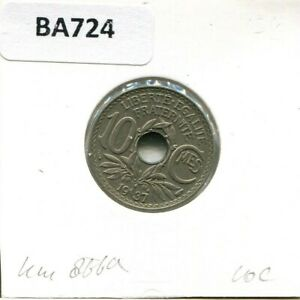 10-CENTIMES-1937-FRANCE-French-Coin-BA724GW