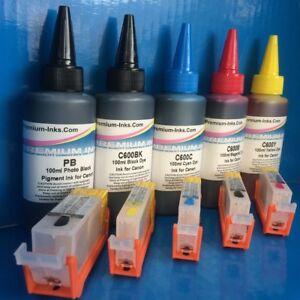Refillables-Cartouche-Pigment-colorant-L-039-ENCRE-d-039-imprimante-pour-CANON-MG5750-TS5050-TS5051
