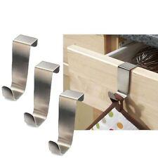 3 X acciaio inox su armadio da cucina porta disegnare Ganci Pot Holder Asciugamano Titolare